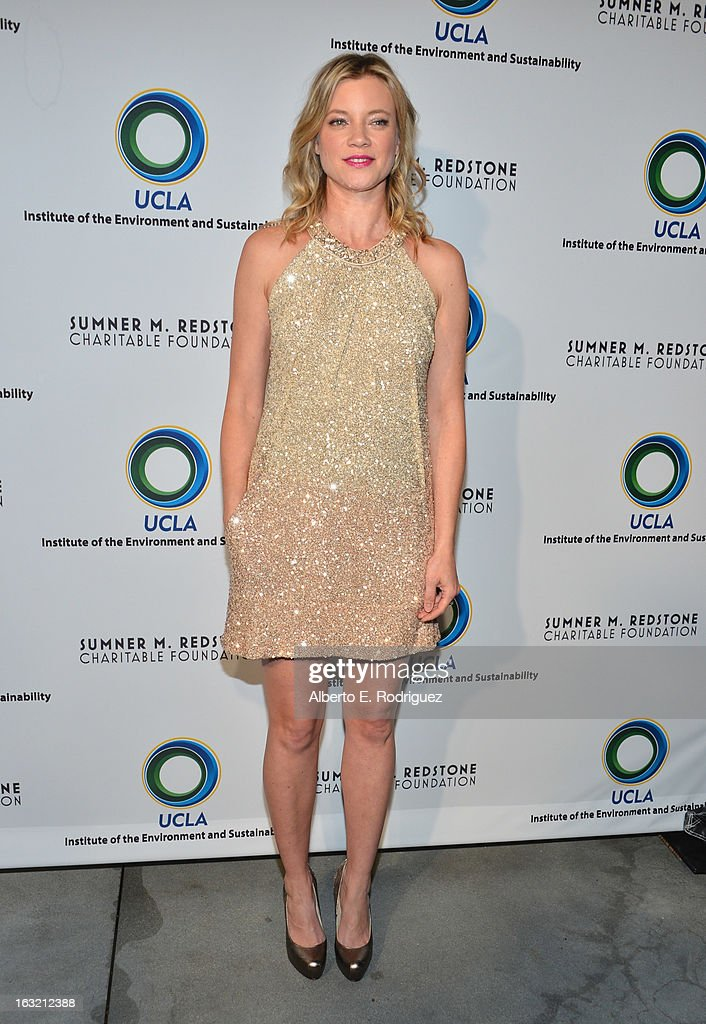 Actress Amy Smart attends the UCLA Institute Of The Environment And Sustainability's 2nd Annual Evening Of Environmental Excellence on March 5, 2013 in Beverly Hills, California.