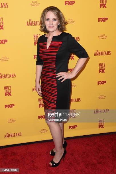 Actress Amy Tribbey attends The Americans season 5 premiere at DGA Theater on February 25 2017 in New York City