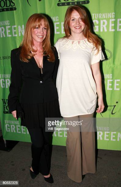 Actress Amy Van Nostrand and Emelyn Daly arrive at the Teens Turning Green National Campaign KickOff at the Broad Street Ballroom on April 4 2008 in...