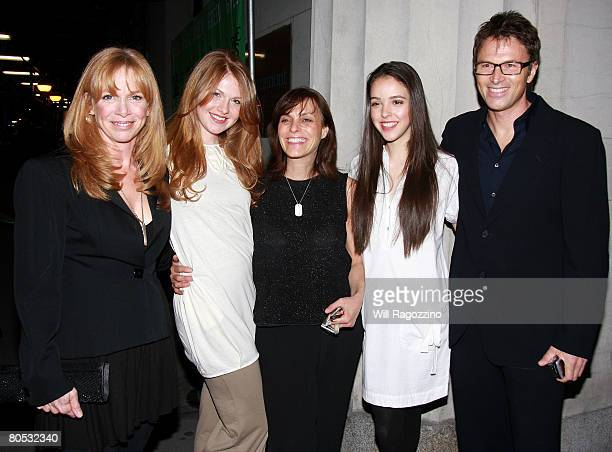 Actress Amy Van Nostrand Emelyn Daly Judi Shils Teens for Safe Cosmetics Lead Spokesperson Erin Schrode and Actor Tim Daly attend the Teens Turning...