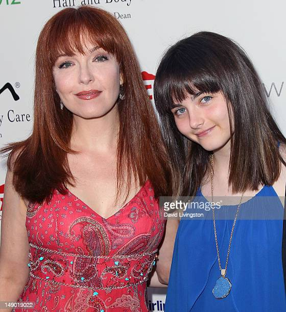 Actress Amy Yasbeck and daughter Stella Ritter attend the 14th Annual DesignCare event at a private residence on July 21, 2012 in Malibu, California.