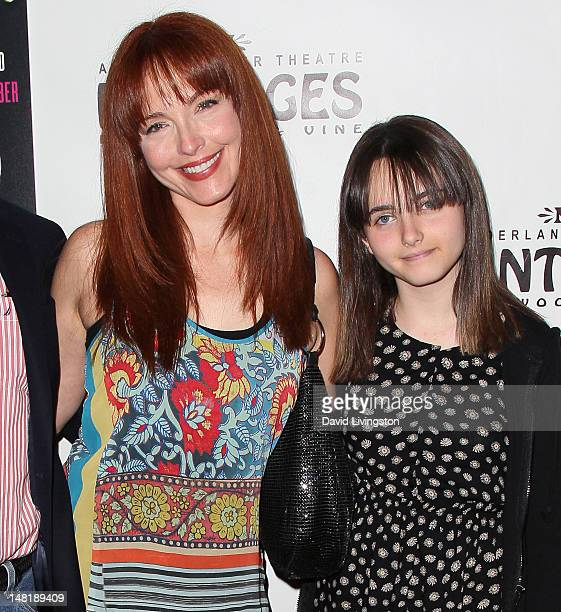 """Actress Amy Yasbeck and daughter Stella Ritter attend the opening night of """"La Cage Aux Folles"""" at the Pantages Theatre on July 11, 2012 in..."""