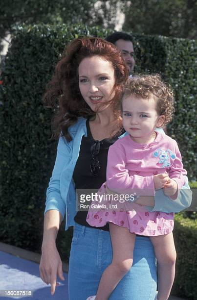 Actress Amy Yasbeck and daughter Stella Ritter attending the premiere of 'Blue's Big Musical Movie' on September 23, 2000 at Paramount Studios in...