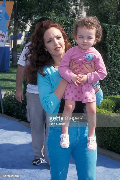 """Actress Amy Yasbeck and daughter Stella Ritter attending the premiere of """"Blue's Big Musical Movie"""" on September 23, 2000 at Paramount Studios in..."""