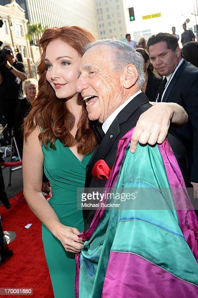 Actress Amy Yasbeck and honoree Mel Brooks attend AFI's 41st Life Achievement Award Tribute to Mel Brooks at Dolby Theatre on June 6, 2013 in...