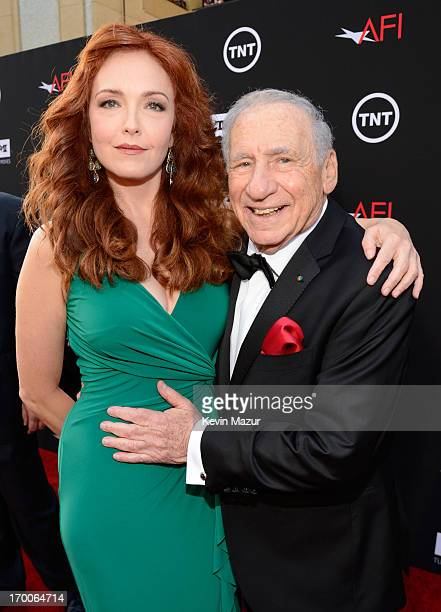 Actress Amy Yasbeck and honoree Mel Brooks attend AFI's 41st Life Achievement Award Tribute to Mel Brooks at Dolby Theatre on June 6 2013 in...