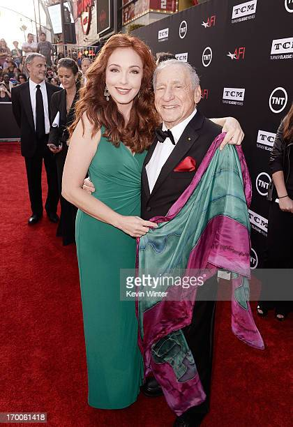 Actress Amy Yasbeck and honoree Mel Brooks attend the 41st AFI Life Achievement Award Honoring Mel Brooks at Dolby Theatre on June 6 2013 in...