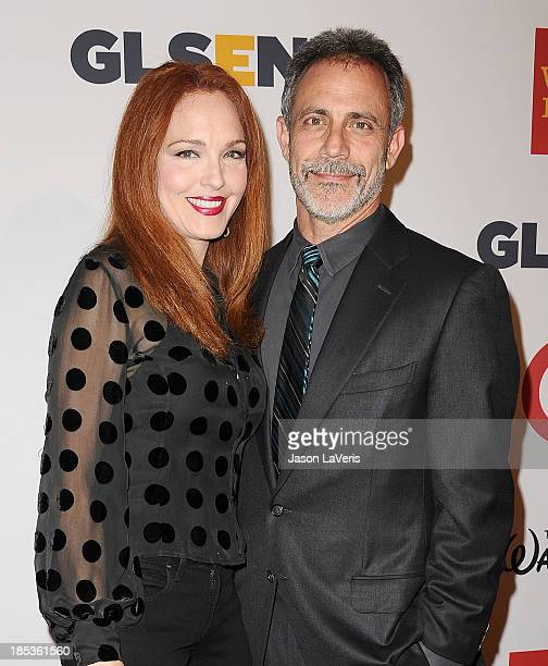 Actress Amy Yasbeck and Michael Plonsker attend the 9th annual GLSEN Respect Awards at Beverly Hills Hotel on October 18 2013 in Beverly Hills...