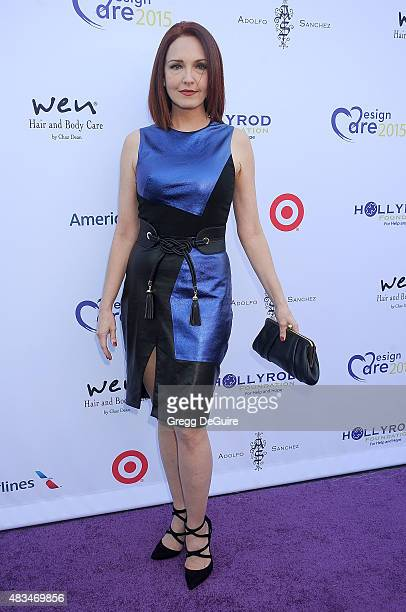 Actress Amy Yasbeck arrives at HollyRod Foundation's 17th Annual DesignCare Gala at The Lot Studios on August 8 2015 in Los Angeles California