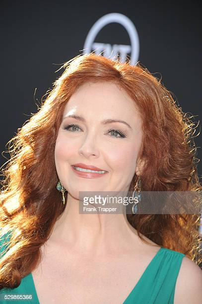 Actress Amy Yasbeck arrives at the American Film Institute Lifetime Achievement Award Gala honoring Mel Brooks held at the Dolby Theater in Hollywood