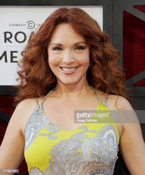 Actress Amy Yasbeck arrives at the Comedy Central Roast of James Franco at Culver Studios on August 25 2013 in Culver City California