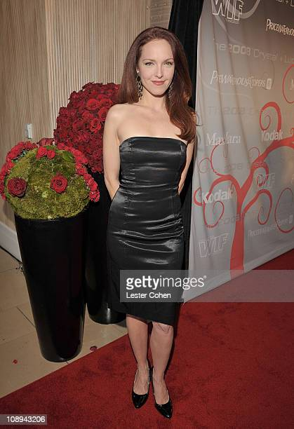 Actress Amy Yasbeck arrives at the Women In Film's 2008 Crystal Lucy Awards held at the Beverly Hilton on June 17 2008 in Beverly Hills California