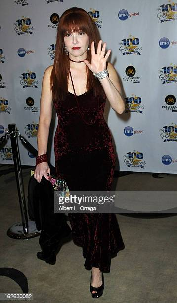 Actress Amy Yasbeck arrives for the 23rd Annual Night Of 100 Stars Black Tie Dinner Viewing Gala held at Beverly Hills Hotel on February 24 2013 in...