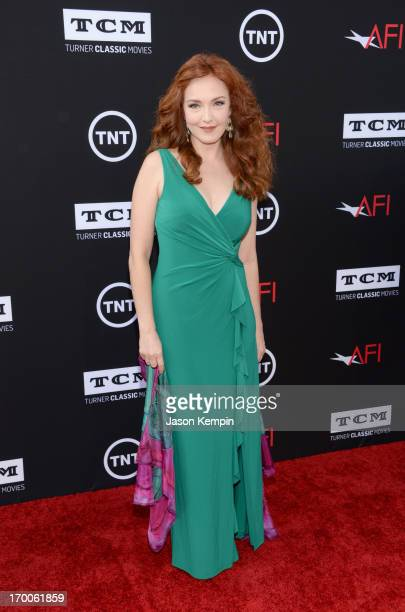 Actress Amy Yasbeck attends AFI's 41st Life Achievement Award Tribute to Mel Brooks at Dolby Theatre on June 6 2013 in Hollywood California