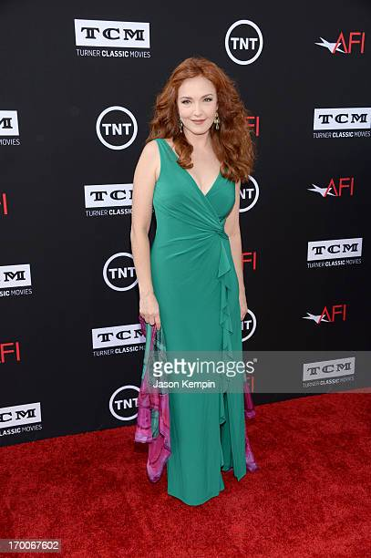 Actress Amy Yasbeck attends AFI's 41st Life Achievement Award Tribute to Mel Brooks at Dolby Theatre on June 6 2013 in Hollywood California...