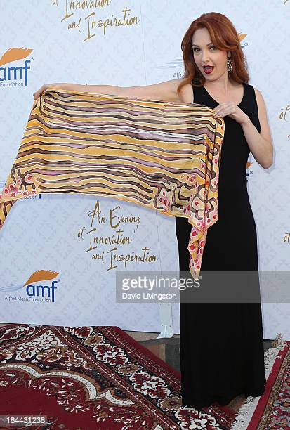 Actress Amy Yasbeck attends the 10th Annual Alfred Mann Foundation Gala in the RobinsonsMay Lot on October 13 2013 in Beverly Hills California