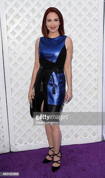 Actress Amy Yasbeck attends the 17th Annual DesignCare Gala at The Lot Studios on August 8 2015 in Los Angeles California