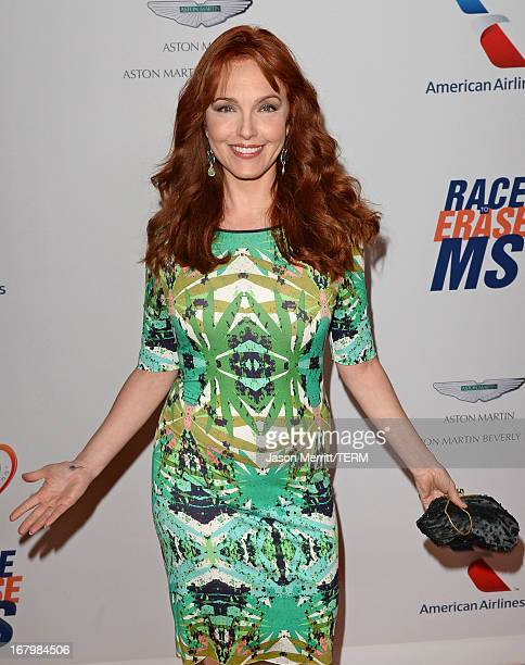 Actress Amy Yasbeck attends the 20th Annual Race To Erase MS Gala 'Love To Erase MS' at the Hyatt Regency Century Plaza on May 3 2013 in Century City...