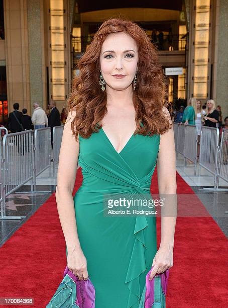 Actress Amy Yasbeck attends the 41st AFI Life Achievement Award Honoring Mel Brooks at Dolby Theatre on June 6 2013 in Hollywood California Special...