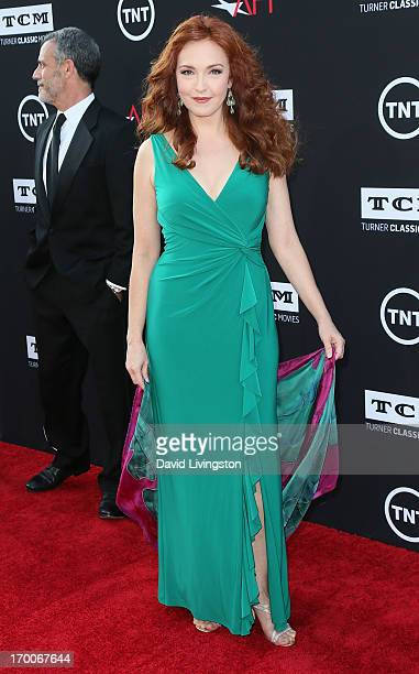 Actress Amy Yasbeck attends the 41st AFI Life Achievement Award honoring Mel Brooks at Dolby Theatre on June 6 2013 in Hollywood California