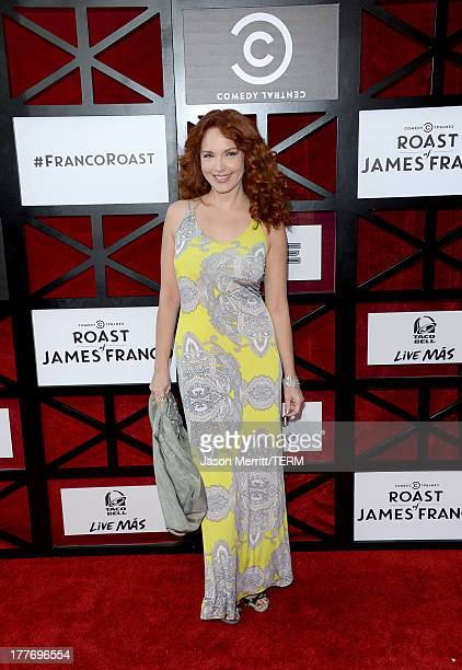 Actress Amy Yasbeck attends The Comedy Central Roast of James Franco at Culver Studios on August 25 2013 in Culver City California The Comedy Central...