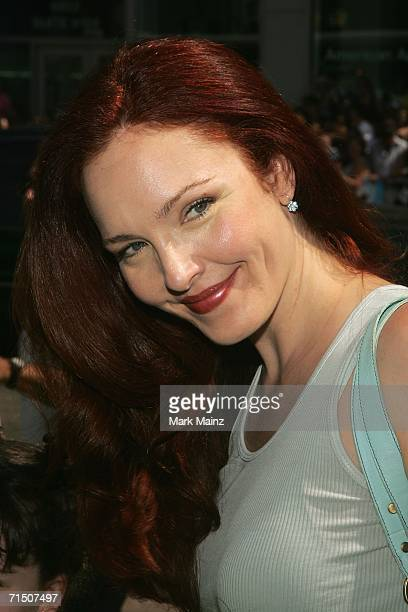 Actress Amy Yasbeck attends the premiere of Warner Bros Pictures' 'Ant Bully' at Graumans Chinese theatre on July 23 2006 in Hollywood California