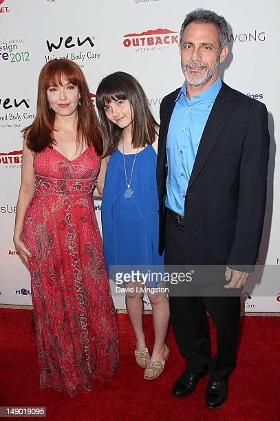 Actress Amy Yasbeck, daughter Stella Ritter and guest attend the 14th Annual DesignCare event at a private residence on July 21, 2012 in Malibu,...