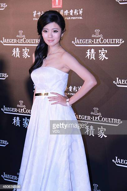 Actress An Yixuan attends Jaeger-LeCoultre Charity Dinner during the 17th Shanghai International Film Festival at Shanghai Film Museum on June 14,...