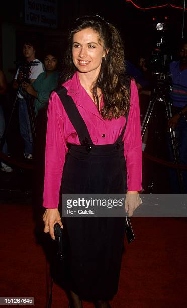Actress Ana Alicia attends the premiere of 'Air America' on August 9 1990 at Mann Chinese Theater in Hollywood California