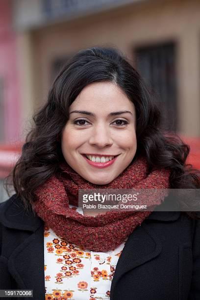 Actress Ana Arias attends 'Cuentame Como Paso' 14th Season presentation at Estudios Grupo Ganga on January 9 2013 in Pinto Spain