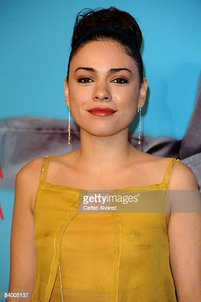 Actress Ana Arias attends the premiere of Yes Man at Capitol Cinema December 11 2008 in Madrid Spain