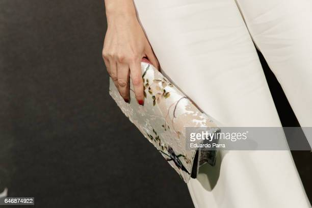 Actress Ana Arias, handbag detail, attends the 'El guardian invisible' premiere at Capitol cinema on March 1, 2017 in Madrid, Spain.