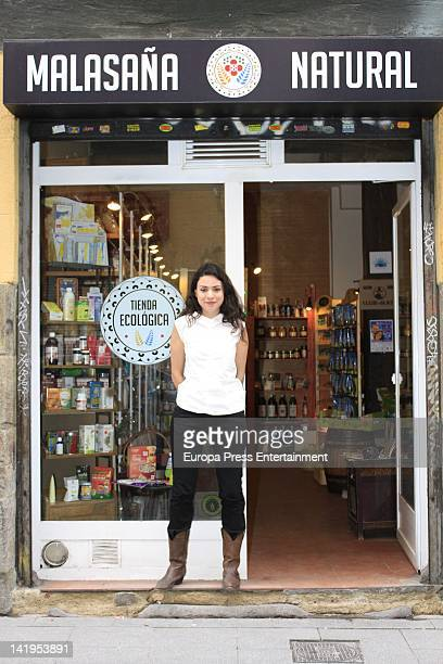 Actress Ana Arias opens an ecological food shop on March 27, 2012 in Madrid, Spain.