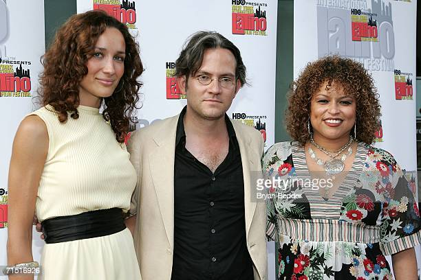 Actress Ana Asensio director Hugo Perez and actress Rhina Valentin arrives at the premiere of Solos Dios Sabe during the New York International...