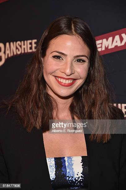 Actress Ana Ayora attends the premiere of Cinemax's 'Banshee' 4th Season at UTA on March 31 2016 in Beverly Hills California