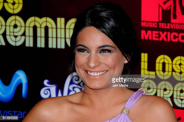 Actress Ana Brenda Contreras attends at the MTV Latino Awards 2009 at the Racetrack of the Americas on October 5 2009 in Mexico City Mexico