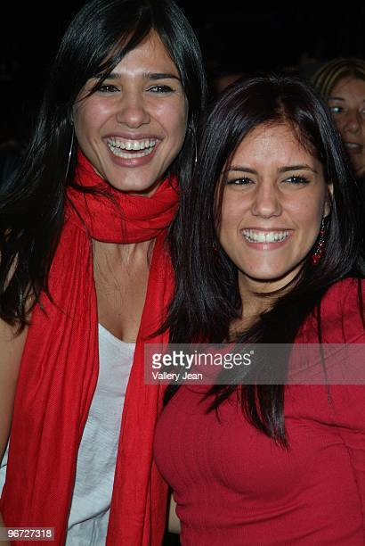 Actress Ana Carolina da Fonseca attend Spanish Singer David Bisbal and Fanny Lu live performance for Valentine's Weekend at James L Knight Center on...