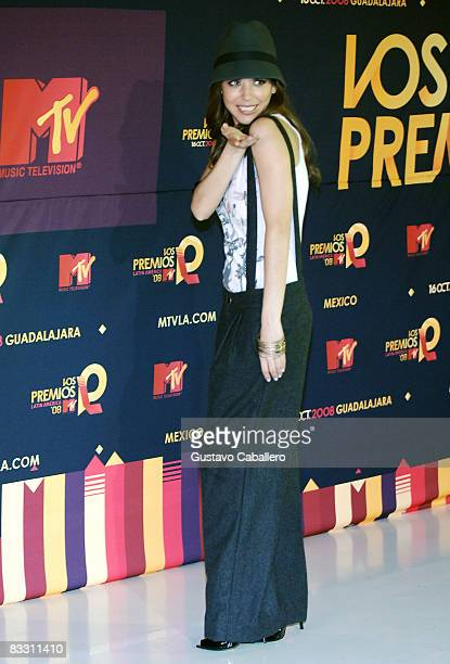 Actress Ana Claudia poses in the press room during the 7th Annual 'Los Premios MTV Latin America 2008' Awards held at the Auditorio Telmex on October...
