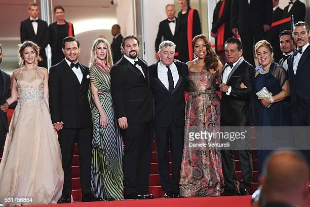 Actress Ana de Armas actor Edgar Ramirez producer Claudine Jakubowicz director Jonathan Jakubowicz actor Robert de Niro and his wife Grace Hightower...