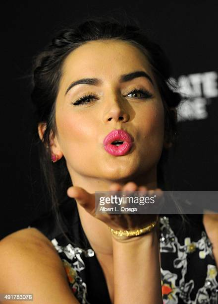 Actress Ana de Armas arrives for the Premiere Of Lionsgate Premiere's 'Knock Knock' held at TCL Chinese Theatre on October 7 2015 in Hollywood...