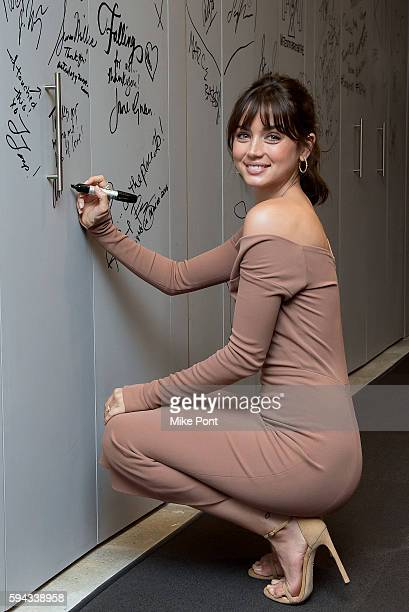 Actress Ana de Armas attends the AOL Build Speaker Series to discuss her roles In Hands of Stone and War Dogs at AOL HQ on August 22 2016 in New York...
