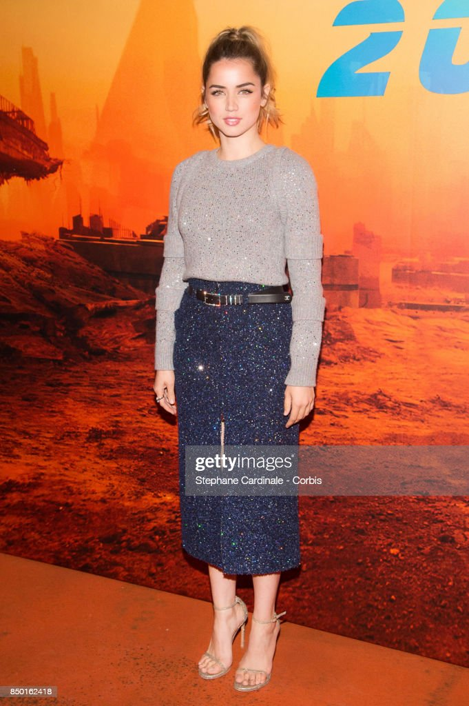 Actress Ana de Armas attends the 'Blade Runner 2049' Photocall at Hotel Le Bristol on September 20, 2017 in Paris, France.