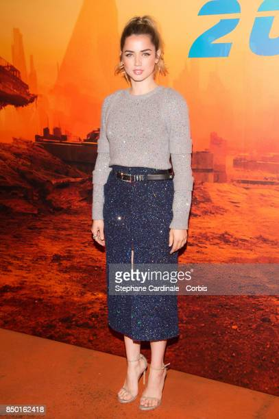 Actress Ana de Armas attends the Blade Runner 2049 Photocall at Hotel Le Bristol on September 20 2017 in Paris France