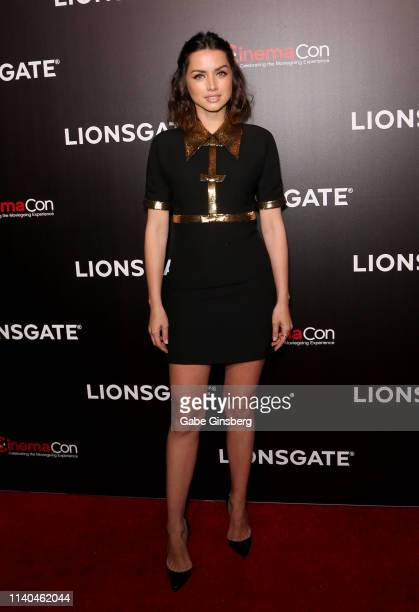 Actress Ana de Armas attends the Lionsgate presentation during CinemaCon at The Colosseum at Caesars Palace on April 04 2019 in Las Vegas Nevada...