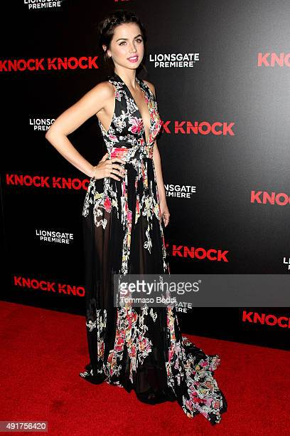 Actress Ana de Armas attends the premiere of Lionsgate Premiere's 'Knock Knock' held at the TCL Chinese Theatre on October 7 2015 in Hollywood...