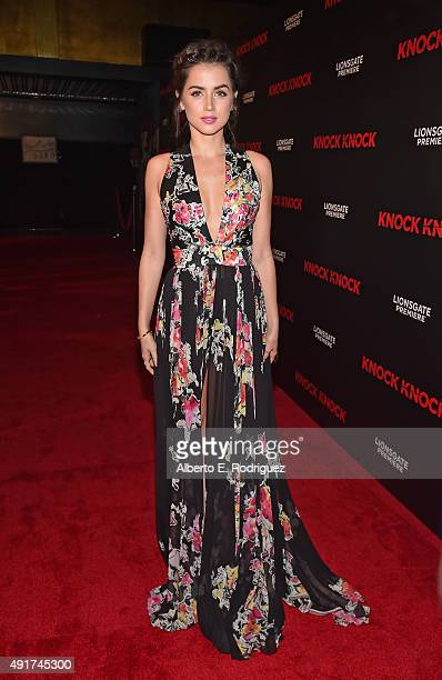 Actress Ana de Armas attends the premiere of Lionsgate's 'Knock Knock' at TCL Chinese 6 Theatres on October 7 2015 in Hollywood California