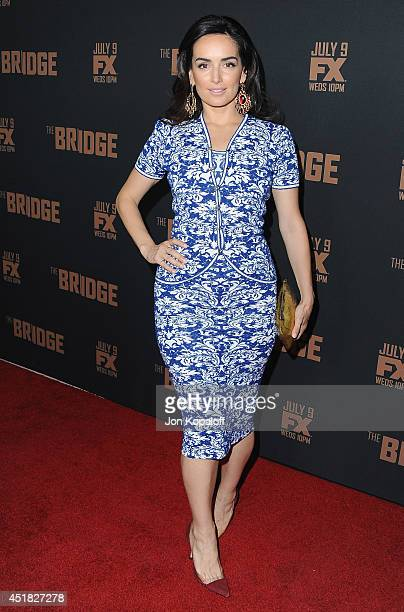 Actress Ana de la Reguera arrives at the FX's 'The Bridge' Season 2 Premiere at Pacific Design Center on July 7 2014 in West Hollywood California