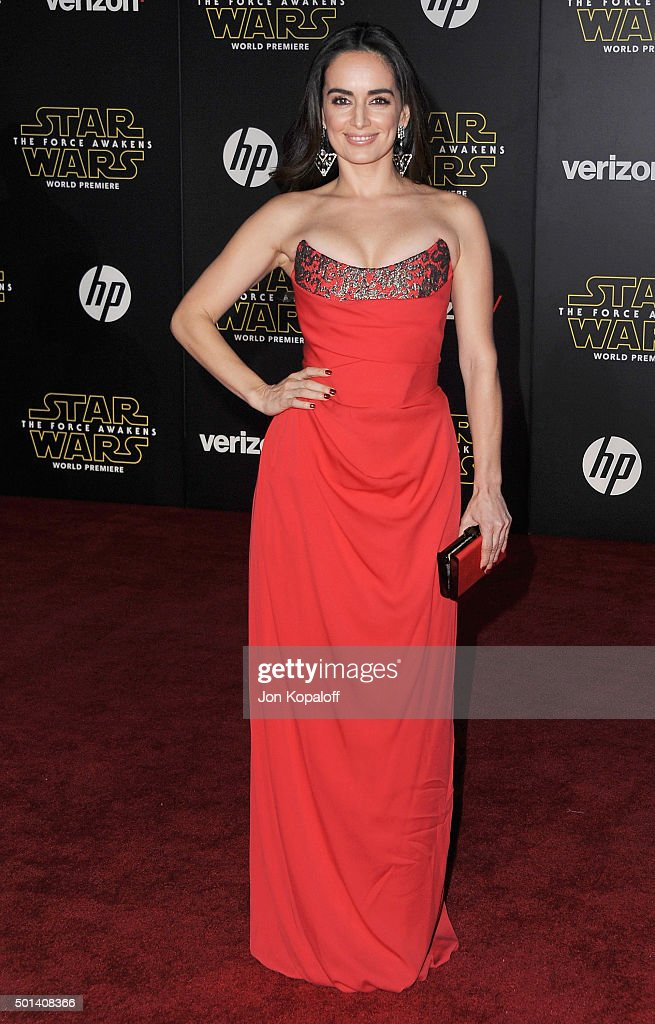 Actress Ana de la Reguera arrives at the Los Angeles Premiere 'Star Wars: The Force Awakens' on December 14, 2015 in Hollywood, California.