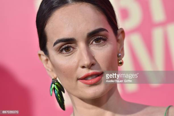 Actress Ana de la Reguera arrives at the premiere of 'Baby Driver' at Ace Hotel on June 14 2017 in Los Angeles California