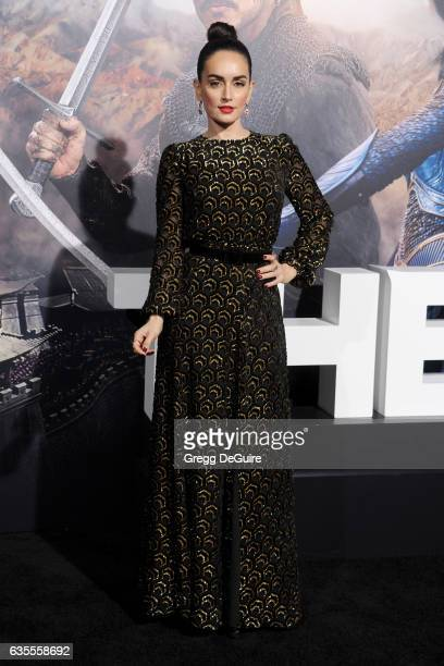 Actress Ana De La Reguera arrives at the premiere of Universal Pictures' 'The Great Wall' at TCL Chinese Theatre IMAX on February 15 2017 in...